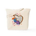 Funny Harp Player Tote Bag