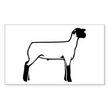 Another Lamb Rectangle Decal