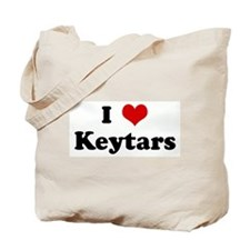 I Love Keytars Tote Bag