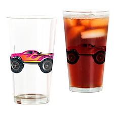 Monster Truck Pink Drinking Glass