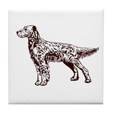 English / Irish Setter Tile Coaster