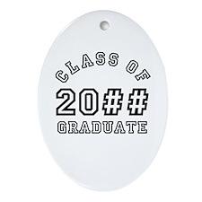 PERSONALIZED Grad Year Ornament (Oval)