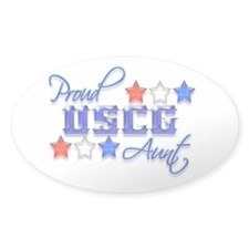 USCG Aunt Oval Decal