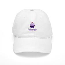 CUSTOM Cupcake w/Baby Name Date Baseball Baseball Cap