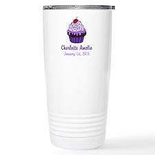 CUSTOM Cupcake w/Baby Name Date Travel Mug