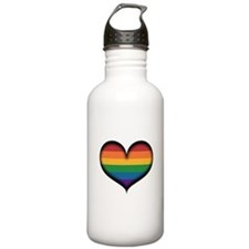 LGBT Rainbow Heart Water Bottle