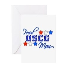 USCG Mom Greeting Card