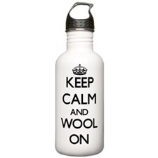 Keep Calm and Wool ON Water Bottle