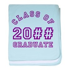 PERSONALIZED Grad Year baby blanket