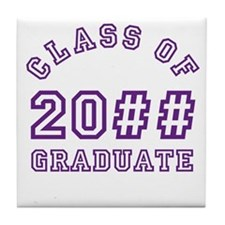 PERSONALIZED Grad Year Tile Coaster