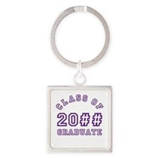 PERSONALIZED Grad Year Square Keychain