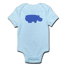 Distressed Blue Hippopotamus Body Suit
