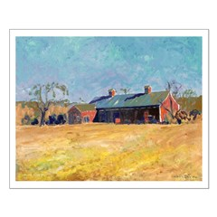 Country Red Barn Posters