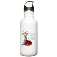 Female EMT I Save Live Sports Water Bottle