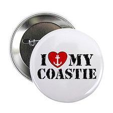 I Love My Coastie Button