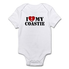 I Love My Coastie Infant Bodysuit
