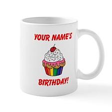 CUSTOM Your Names Birthday Cupcake Mugs