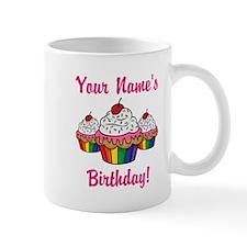 CUSTOM Your Names Birthday Cupcakes Mugs