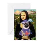 Mona & Sir Pug Greeting Cards (Pk of 10)