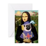 Mona & Sir Pug Greeting Card