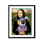 Mona & Sir Pug Framed Panel Print