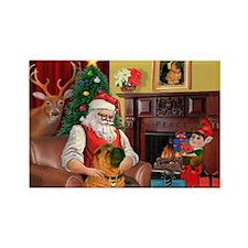 Santa's Shar Pei Rectangle Magnet