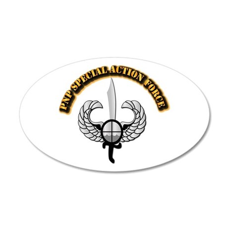 PNP Special Action Force 20x12 Oval Wall Decal