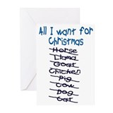 ALL I WANT CHRISTMAS Greeting Cards (Pk of 10)