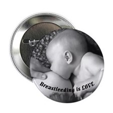 "Breastfeeding is LOVE 2.25"" Button (10 pack)"