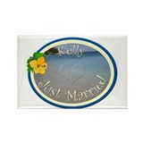 Kelly Just Married Rectangle Magnet
