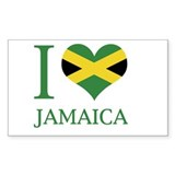 I Love Jamaica Rectangle Decal