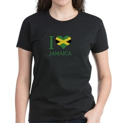 I Love Jamaica Women's Dark T-Shirt