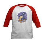 Cute Nightcrawler Worm Kids Baseball Jersey