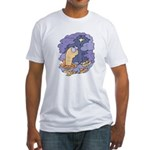 Cute Nightcrawler Worm Fitted T-Shirt