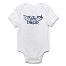 E3 USAF I love my uncle blue Infant Bodysuit