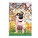 Spring / Pug Postcards (Package of 8)