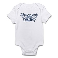 E3 USAF I love my daddy blue Infant Bodysuit