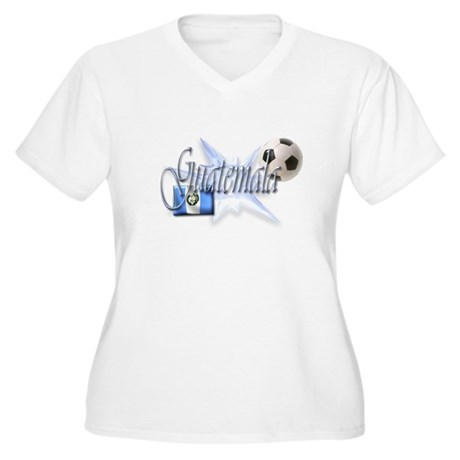 Guatemala Women's Plus Size V-Neck T-Shirt