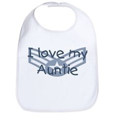 E4 USAF I love my auntie blue Bib