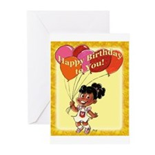 Black Birthday Girl Cards (Pk of 10)