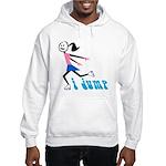 i spin, i jump Hooded Sweatshirt