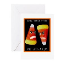 Evil Candy Corns Greeting Cards (Pk of 20)