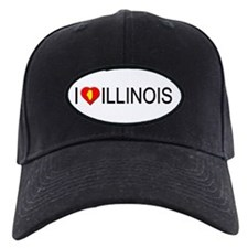 I love Illinois Baseball Hat