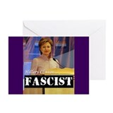 Clinton = Fascist Greeting Cards (Pk of 20)
