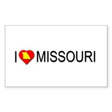 I love Missouri Rectangle Decal