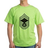 Black Chief Master Sergeant T-Shirt