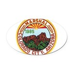 Colorado City Marshal Oval Car Magnet