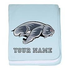 Running Bulldog (Custom) baby blanket