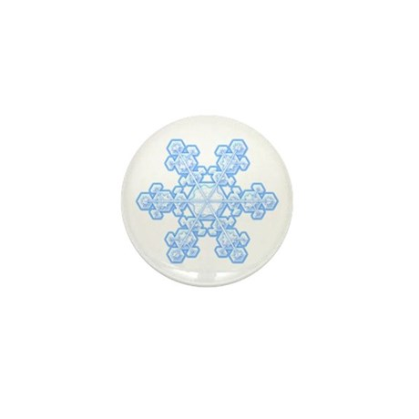 Flurry Snowflake XVII Mini Button (100 pack)