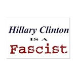 Clinton = Fascist Mini Poster Print